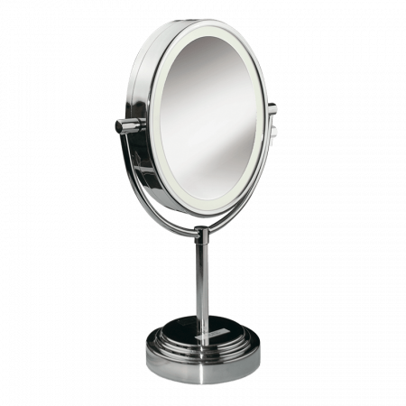 Specchio luminoso ovale double-face