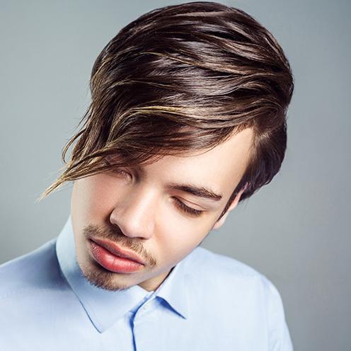 Taglio capelli frangia uomo