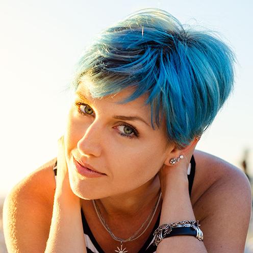 Ocean hair capelli blu